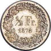 ½ franc Helvetia debout (argent) – revers
