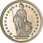 1 franc Helvetia debout (argent) -  avers