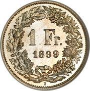 1 franc Helvetia debout (argent) -  revers