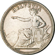 5 francs Solothurn – avers