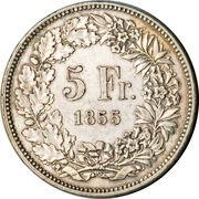 5 francs Solothurn – revers