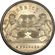 5 francs Zurich – avers