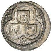 3 Heller - Karl Ludwig II. Ernst – avers