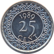 25 cents – revers