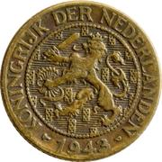1 cent - Wilhemina (administration hollandaise) – avers