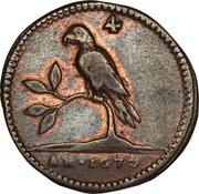 4 duit / ½ stuiver (Perroquet uniface, 4 feuilles) – avers