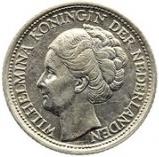 10 cents - Wilhelmina – avers