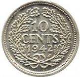10 cents - Wilhelmina – revers