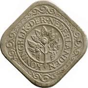 5 cents - Wilhelmina – avers