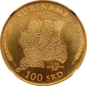 100 Dollars (Gold Bullion Coinage) – revers