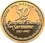 500 Dollars (50ème anniversaire de la Banque Centrale) – revers