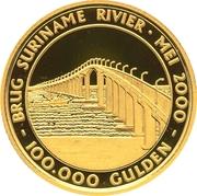 100 000 Gulden (Pont Jules Wijdenbosch) – revers