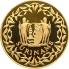 500 Guilders (35ème anniversaire de la Banque Centrale du Suriname) – avers