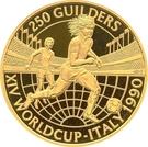250 Guilders (Coupe du monde de football Italie 1990) – revers