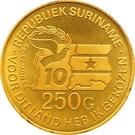250 Gulden (5ème anniversaire de la Révolution) – revers