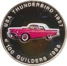 100 Guilders (USA Thunderbird 1957) – revers