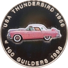 100 Guilders (USA Thunderbird 1956) – revers