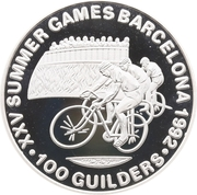 100 Guilders (Jeux olympiques Barcelone 1992) – revers