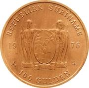 100 Gulden (1er anniversaire de l'indépendance) – avers