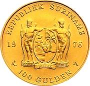 100 guilders (Indépendance) – avers