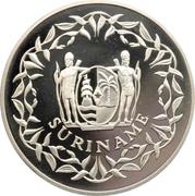 50 Guilders (35ème anniversaire de la Banque Centrale du Suriname) – avers