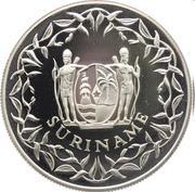 50 Guilders (125ème anniversaire de la Banque du Suriname) – avers