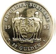 30 gulden (banque centrale) – avers