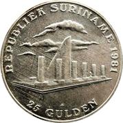 25 Gulden (1er anniversaire de la Révolution) – revers