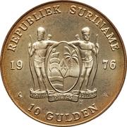 10 gulden Indépendance – avers