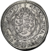 1 Thaler - Eberhard Ludwig and bishop Marquard Rudolf von Roth – revers