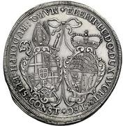 1 Thaler - Eberhard Ludwig and bishop Marquard Rudolf von Roth – avers