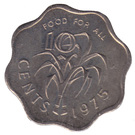 10 cents - Sobhuza II (FAO) – revers