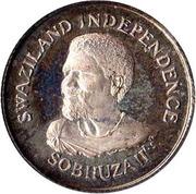 5 cents - Sobhuza II (Indépendance) – avers