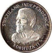 10 cents - Sobhuza II (Indépendance) – avers