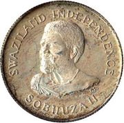 20 cents - Sobhuza II (Indépendance) – avers