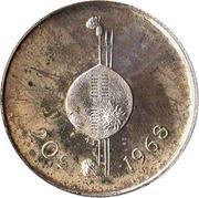 20 cents - Sobhuza II (Indépendance) – revers