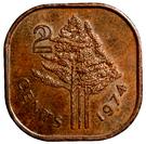 2 cents - Sobhuza II – revers