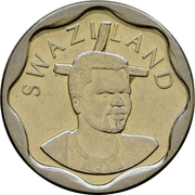 20 cents - Mswati III (petit module) – avers