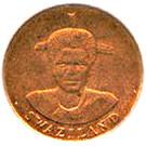 1 cent - Mswati III premier portrait – avers