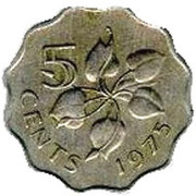 5 cents - Sobhuza II – revers