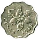 5 cents - Dzeliwe – revers
