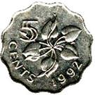 5 cents - Mswati III – revers