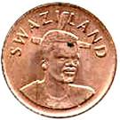 1 cent - Mswati III – avers