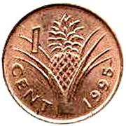 1 cent - Mswati III – revers