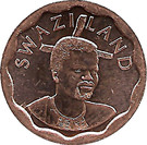 5 cents - Mswati III – avers