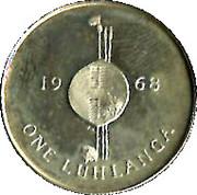 1 luhlanga - Sobhuza II – revers