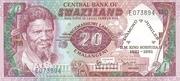 20 Emalangeni commemorative banknote – avers