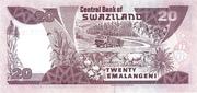 20 Emalangeni commemorative banknote – revers