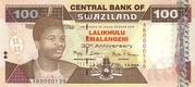 100 Emalangeni commemorative banknote – avers