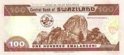 100 Emalangeni commemorative banknote – revers